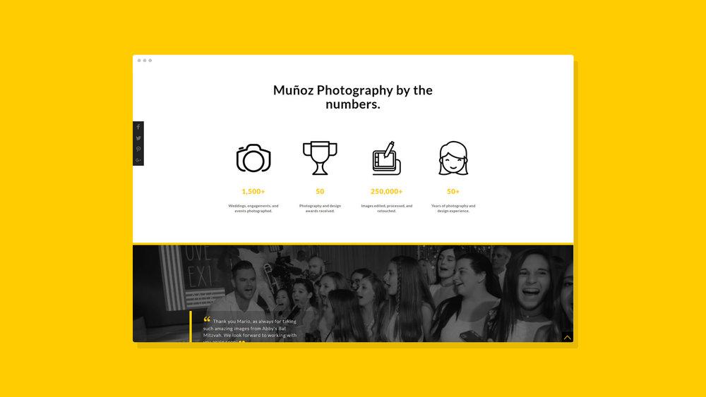Muñoz Photography Website Showcase 3