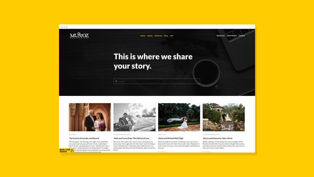 Muñoz Photography Website Showcase 4