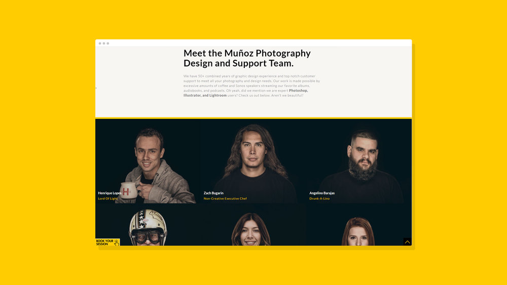 Muñoz Photography Website Showcase 11
