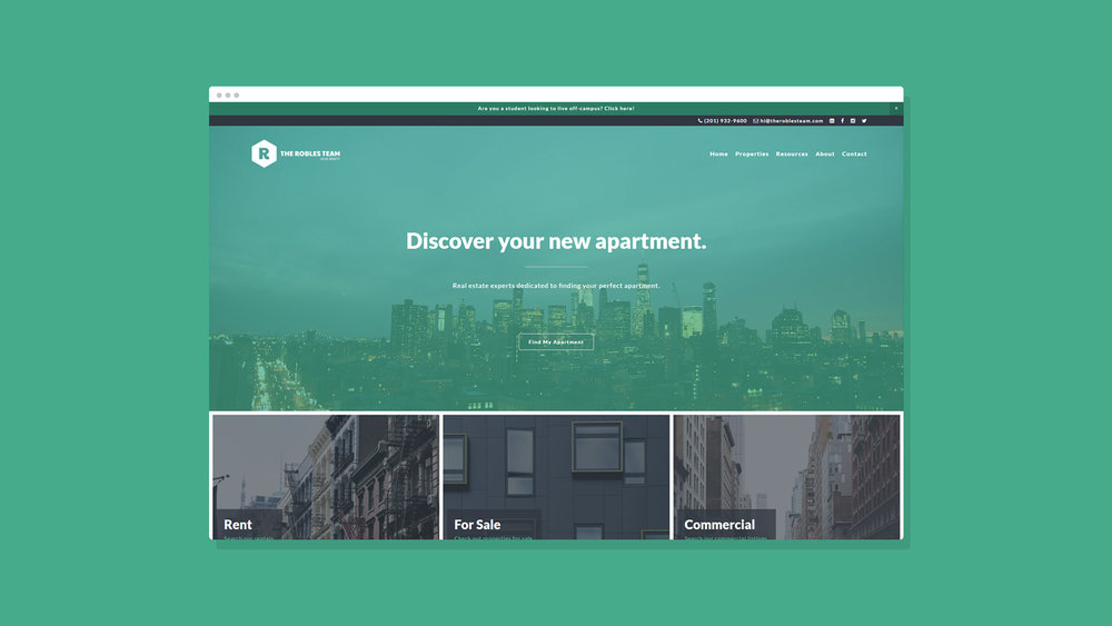 Robles Group NYC Website Showcase 1