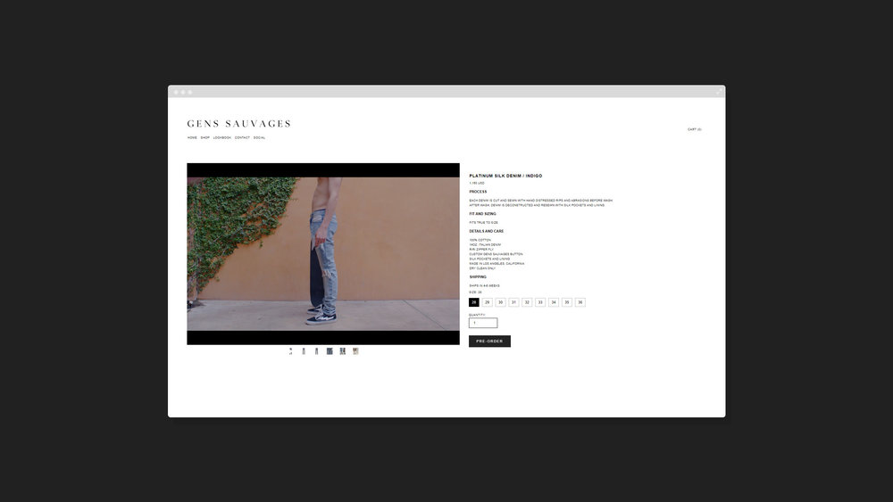 GENS SAUVAGES WEBSITE | Barajas Desgin