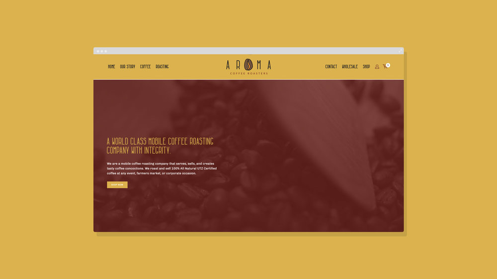 Aroma Coffee Website Homepage