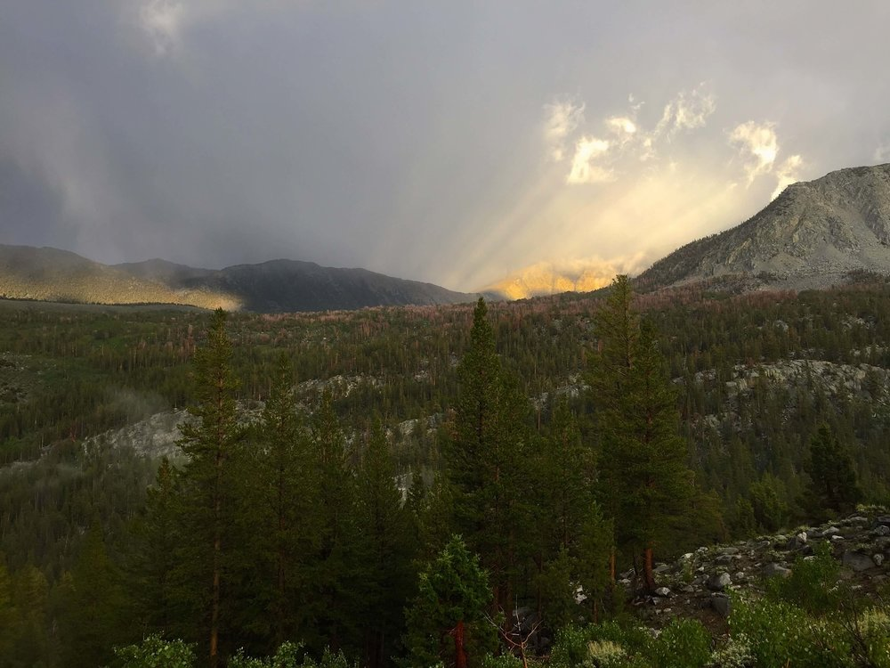 Evening rain storms from the Hilton Trail.