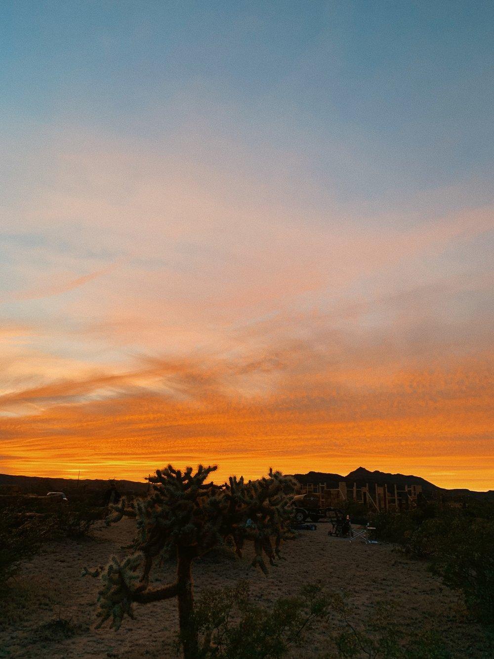 sunset, tohono o'odam nation, 2019