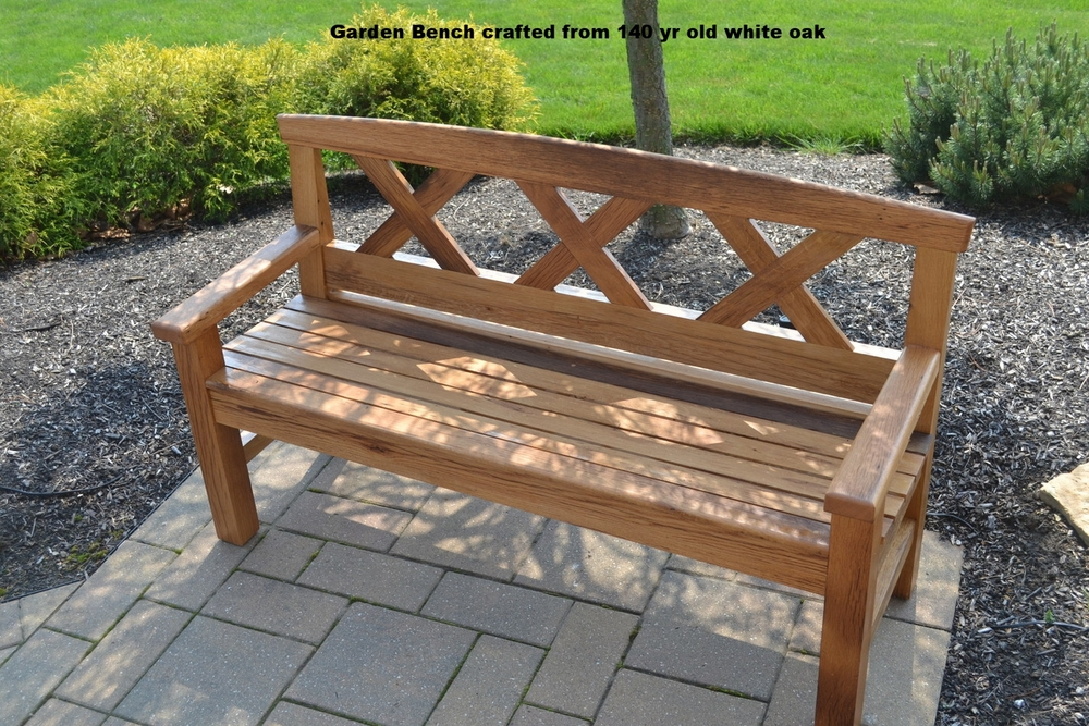 Simple Garden Bench Salvage Timbers From Timber Frame Barn In Hilliard, Ohio,  Built In