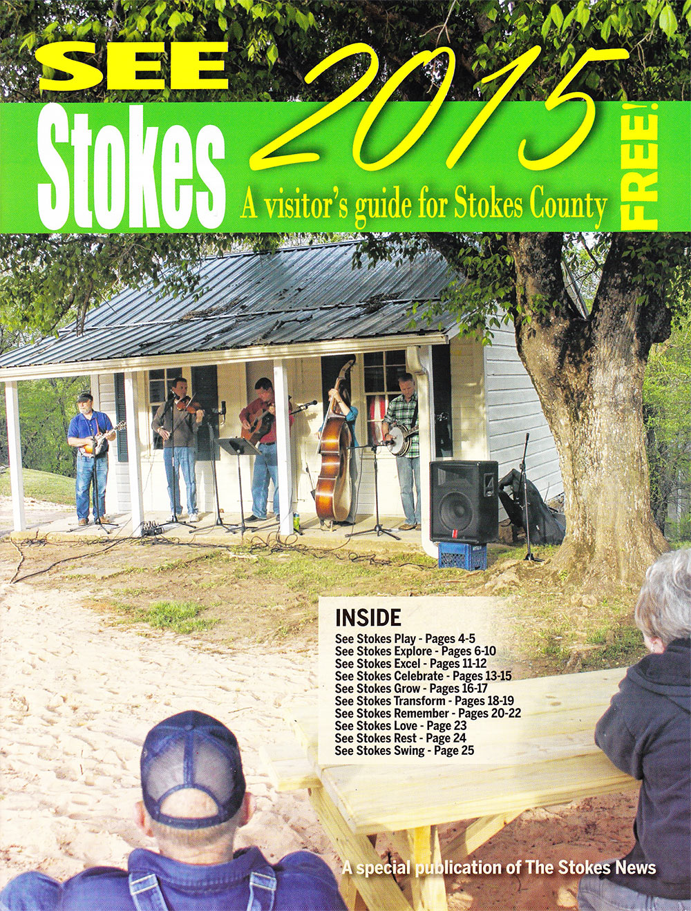Cover of Stokes County Visitors Guide. We were honored to be mentioned inside. Click for Larger View.