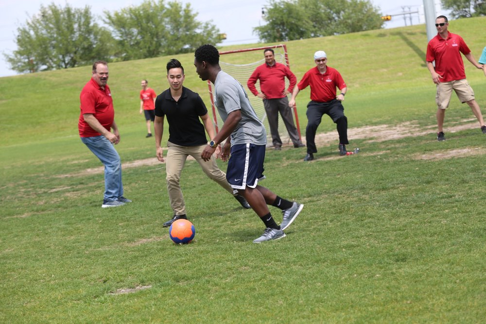 UHCOP Annual Spring Picnic 2019; Soccer with the Dean