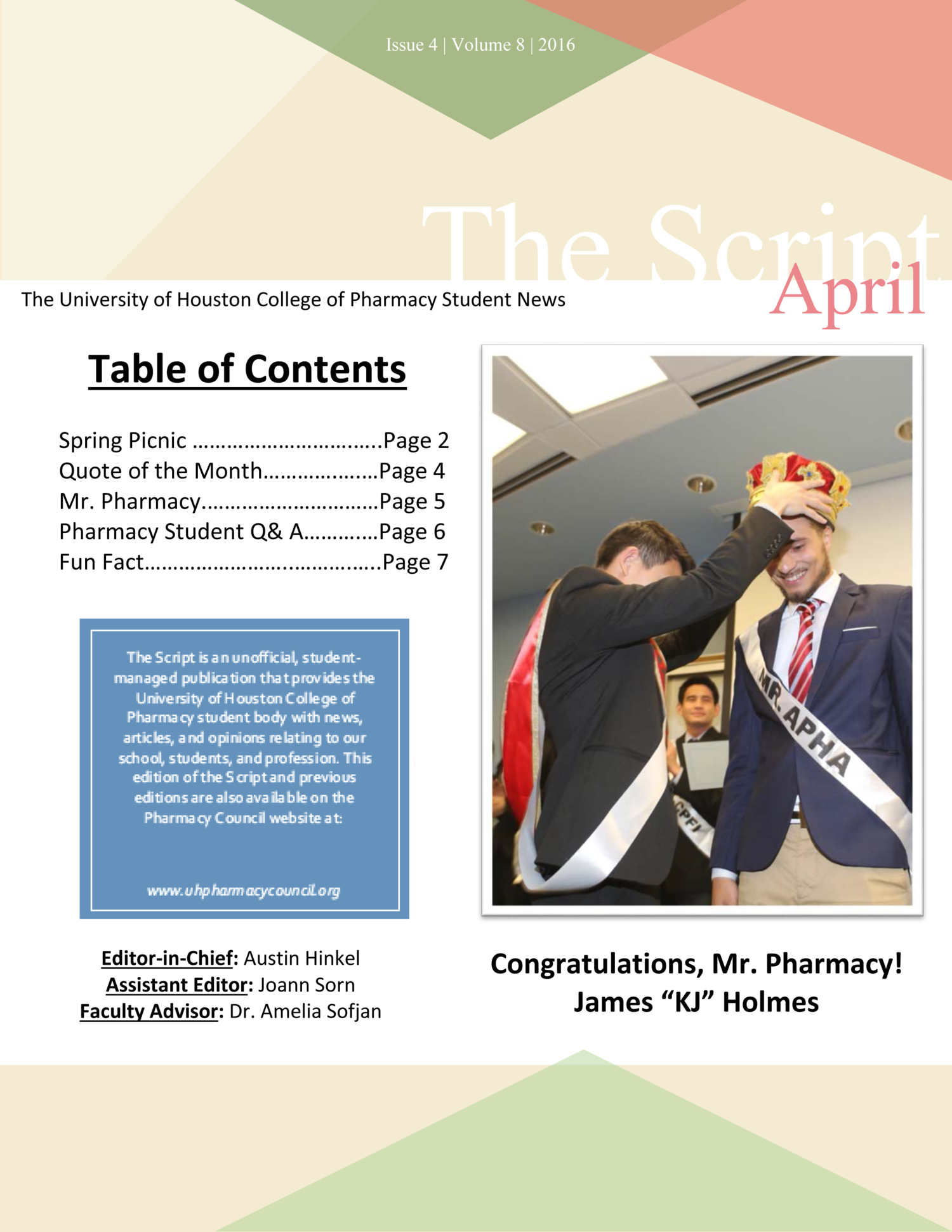 April 2016 — Pharmacy Council