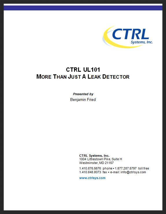 UL101 More Than A Leak Detector