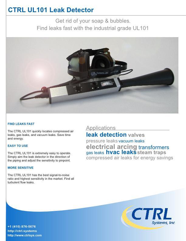 datasheet: UL101 Leak Detector