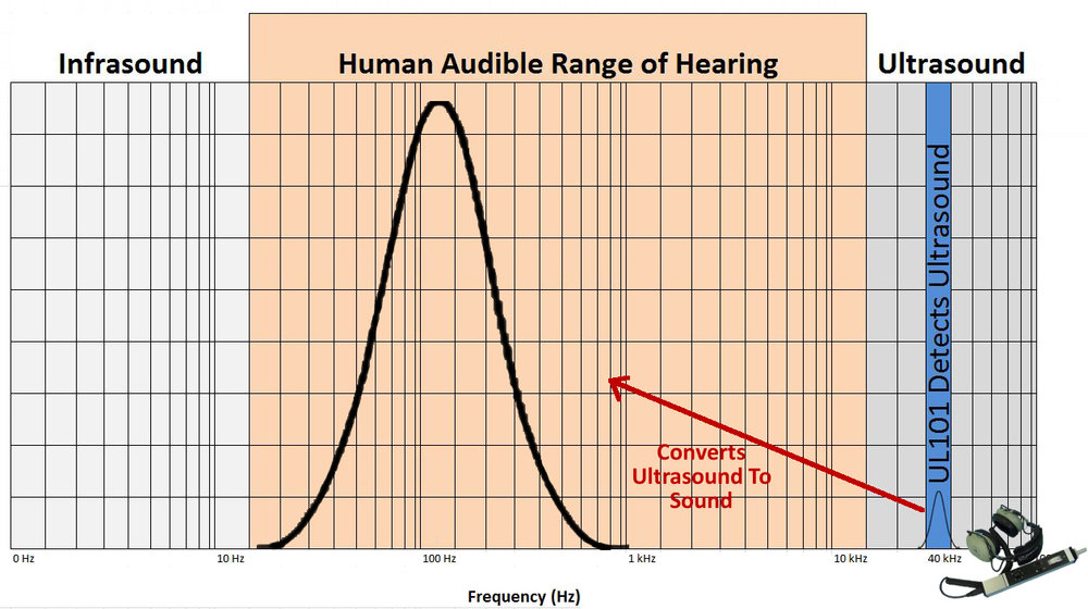 Detect & Convert Ultrasound Into Human Audible Range of Hearing