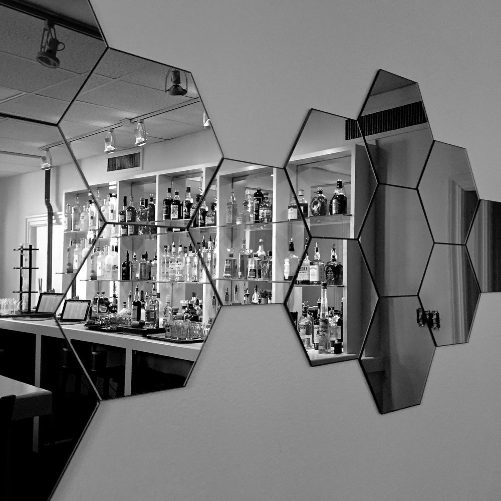 Bartending School Black White Bar