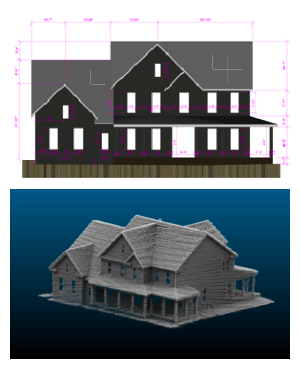 CAD & LiDAR files of new home construction