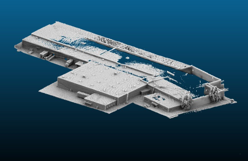 LiDAR 3D scan of facility