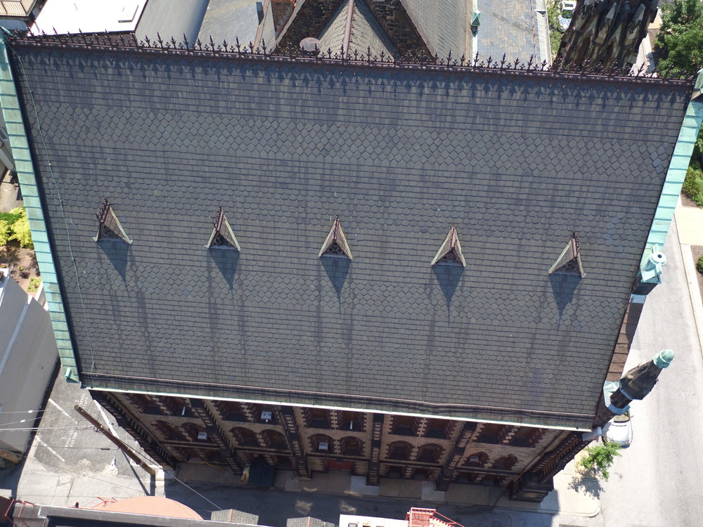 Church roof inspection