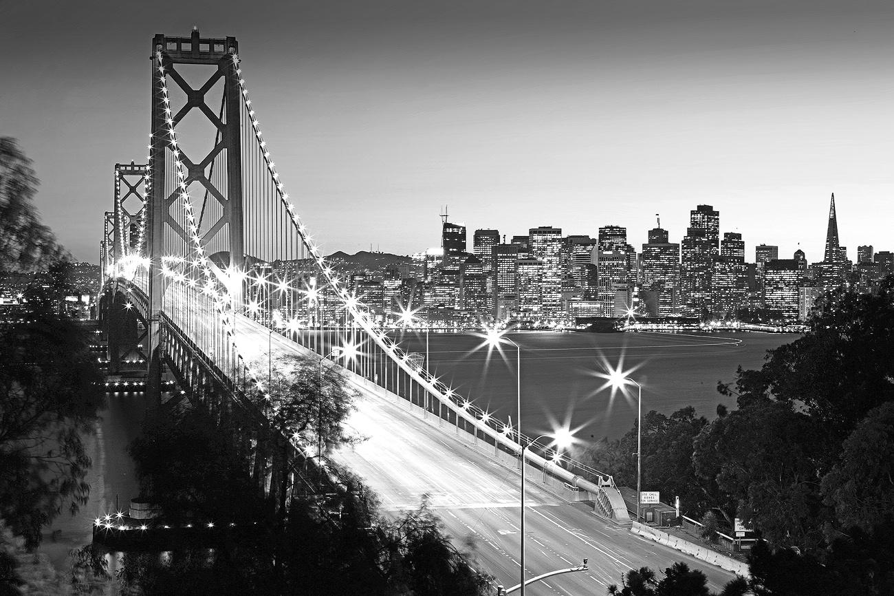 San Francisco Black And White Wallpaper