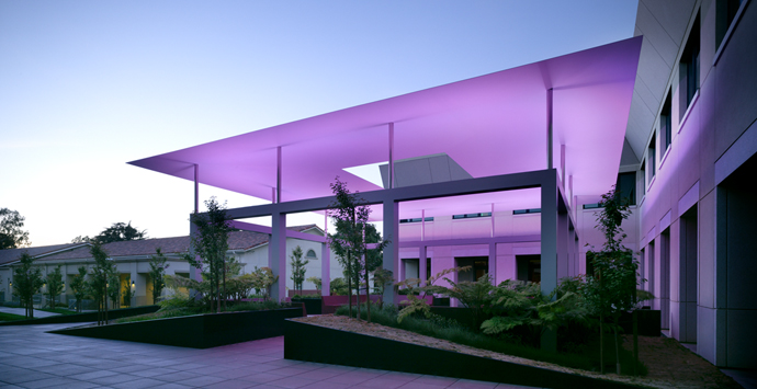 """Dividing the Light,"" by James Turrell, Pomona College Alumnus '65, 2007, permanent installation (Draper Courtyard)"