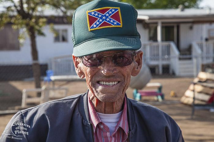 A Trailer park resident in East Porterville