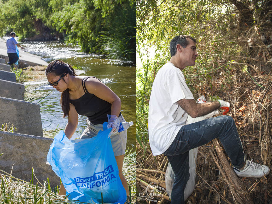 Eric Garcetti cleans up LA River