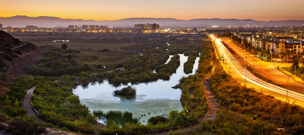 Ballona Wetlands and Playa Vista Development, Playa Del Rey, Los Angeles, California, USA