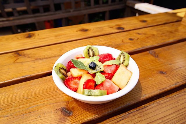 Nothing better than a bowl of fruit to start the day! Hoping everyone is having a great weekend!