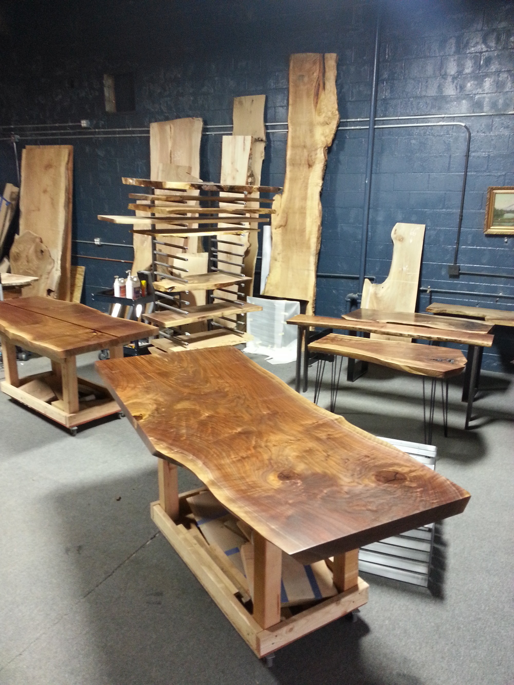 LIVE EDGE DINING TABLE IN PROCESS
