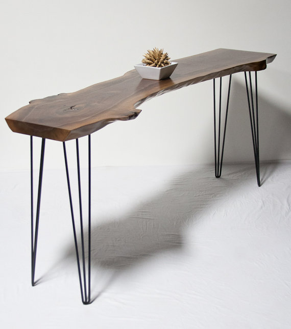 Live Edge Foyer Table : Console tables live edge wood and