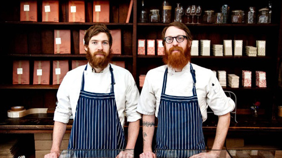 The Mast Brothers at their Brooklyn flagship.