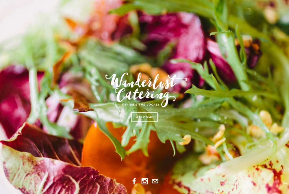 WANDERLUST CATERING    Website copy     Chef–Proprietor Simi Hanson traded the corporate life for a chef apron in 2010, and hasn't looked back since. Her start-up catering company, Wanderlust Catering, has grown quickly and was in desperate need of a revamp, including a full copy overhaul.