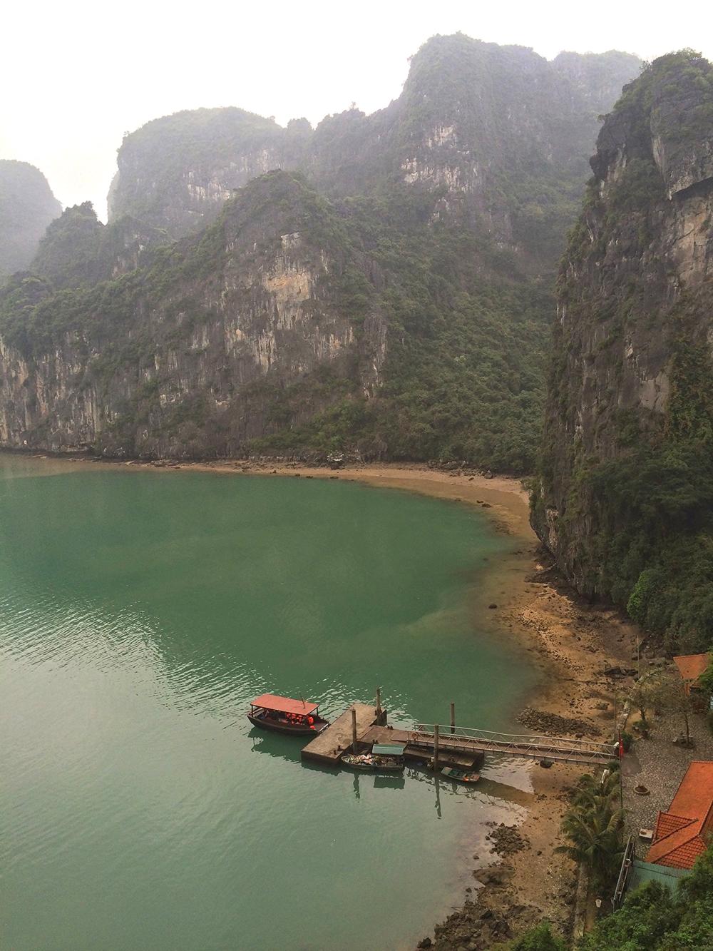 docks and rocks