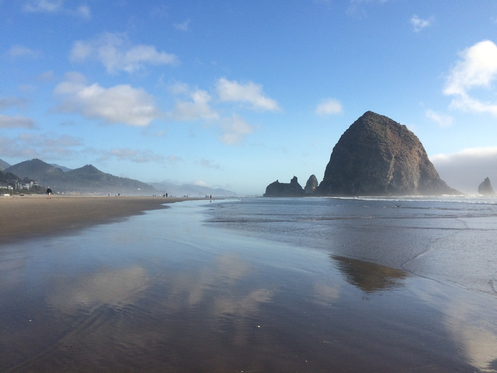 Haystack Rock beautiful view travel blogger