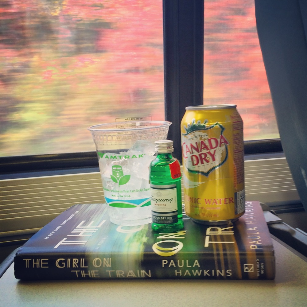 gin on a train