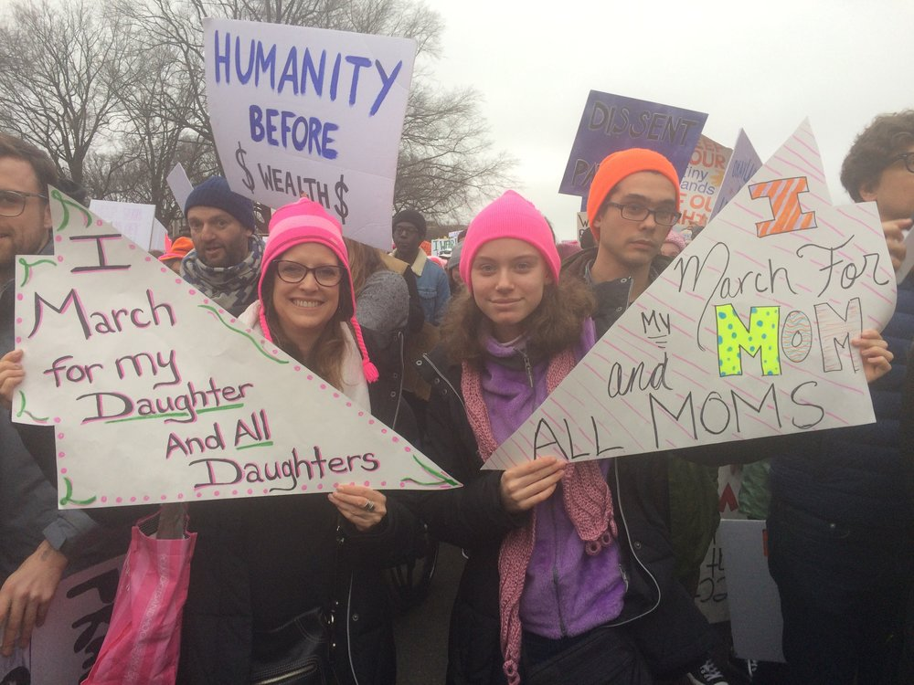 mother daughter duo womens march blog