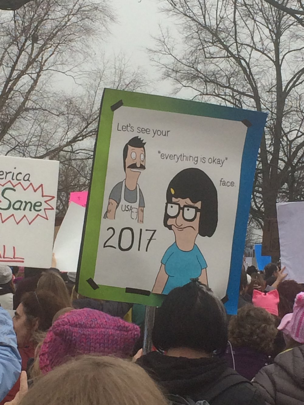womens march signs