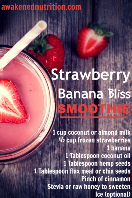 Stawberry Banana Bliss Smoothie