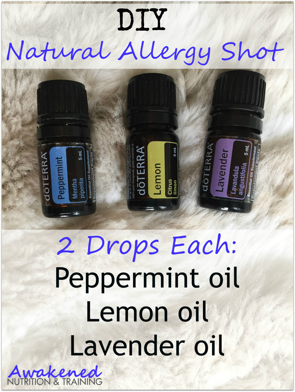 DIY Natural Allergy Relief Shot. Only 3 ingredients via @exsoycise
