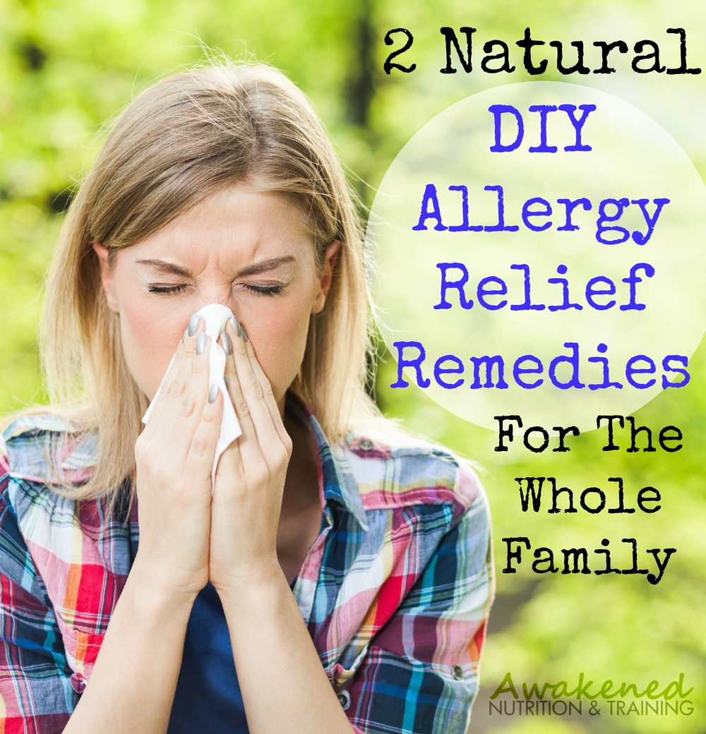 2 DIY Natural Allergy Relief Remedies For The Whole Family via @exsoycise