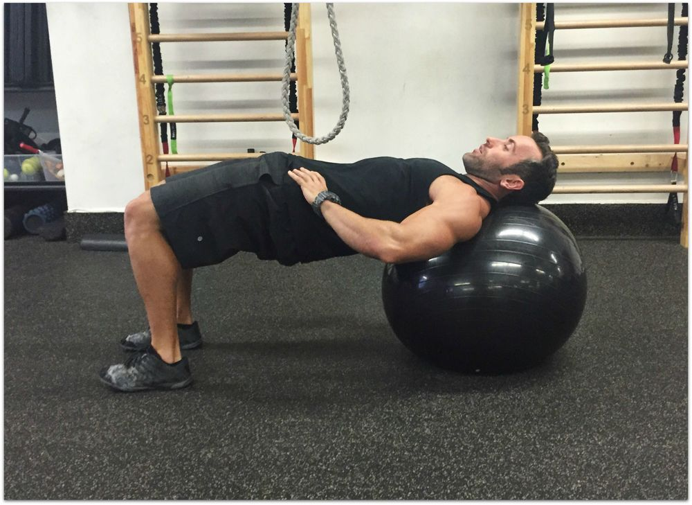 Glute Bridge on Stability Ball