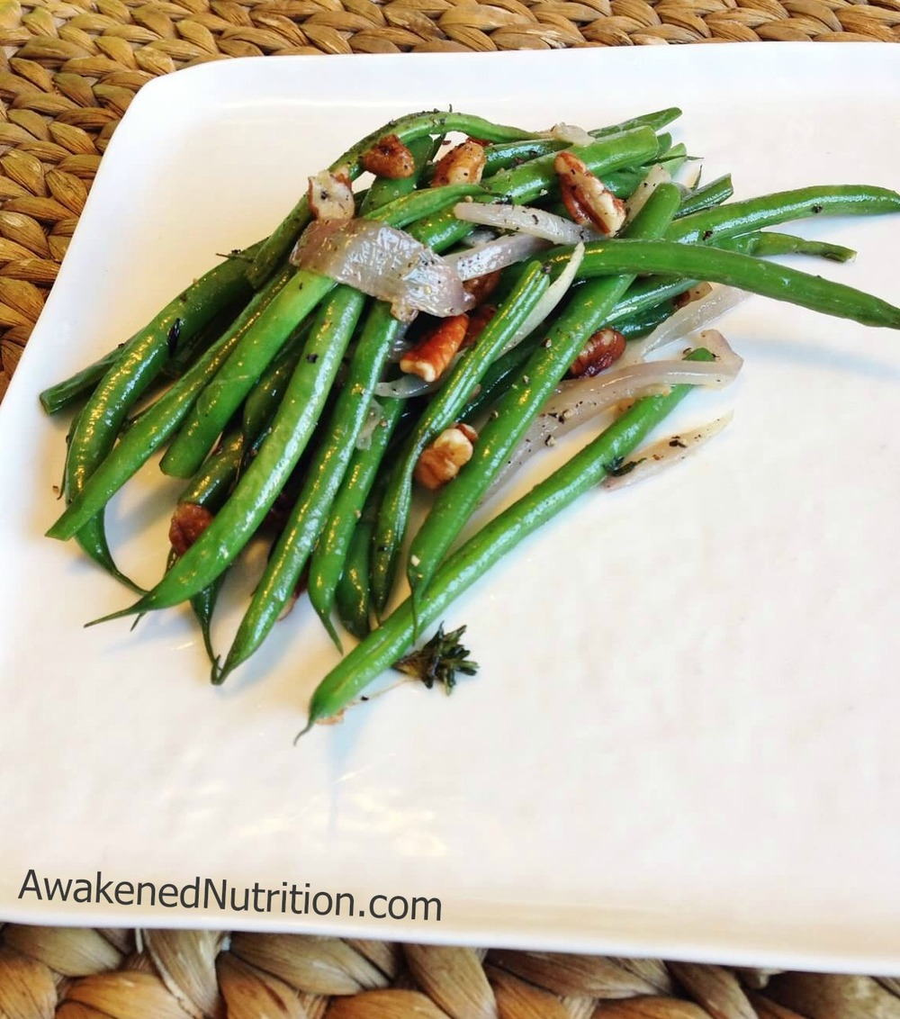 Haricot Vert, Red Onion and Pecan Sauté Side Dish Recipe