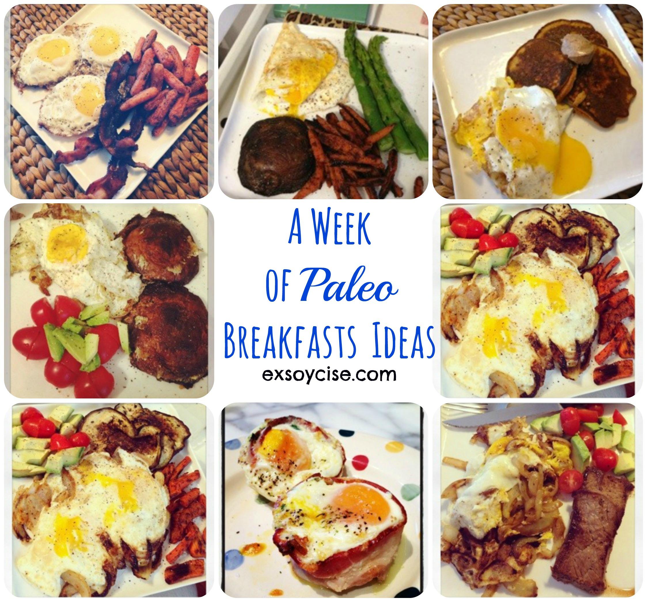 week of paleo breakfast