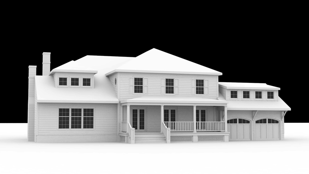 Original White Model Render - Street Elevation