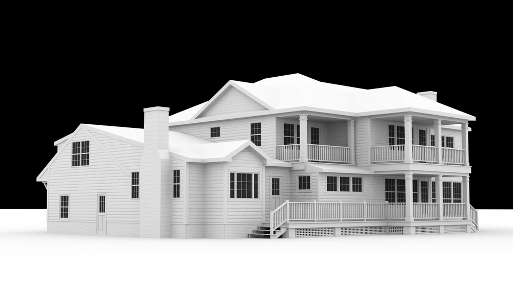Original White Model Render - Water Elevation