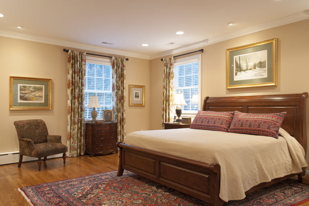 The large master bedroom