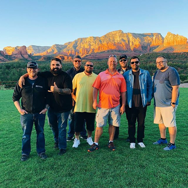 Dinner night with the best team! After all the hard work and crazy heat this summer we love being able to go out on a company retreat and have a nice dinner to say thank you. Could not be more thankful! #Brothers #Sedona #Retreat