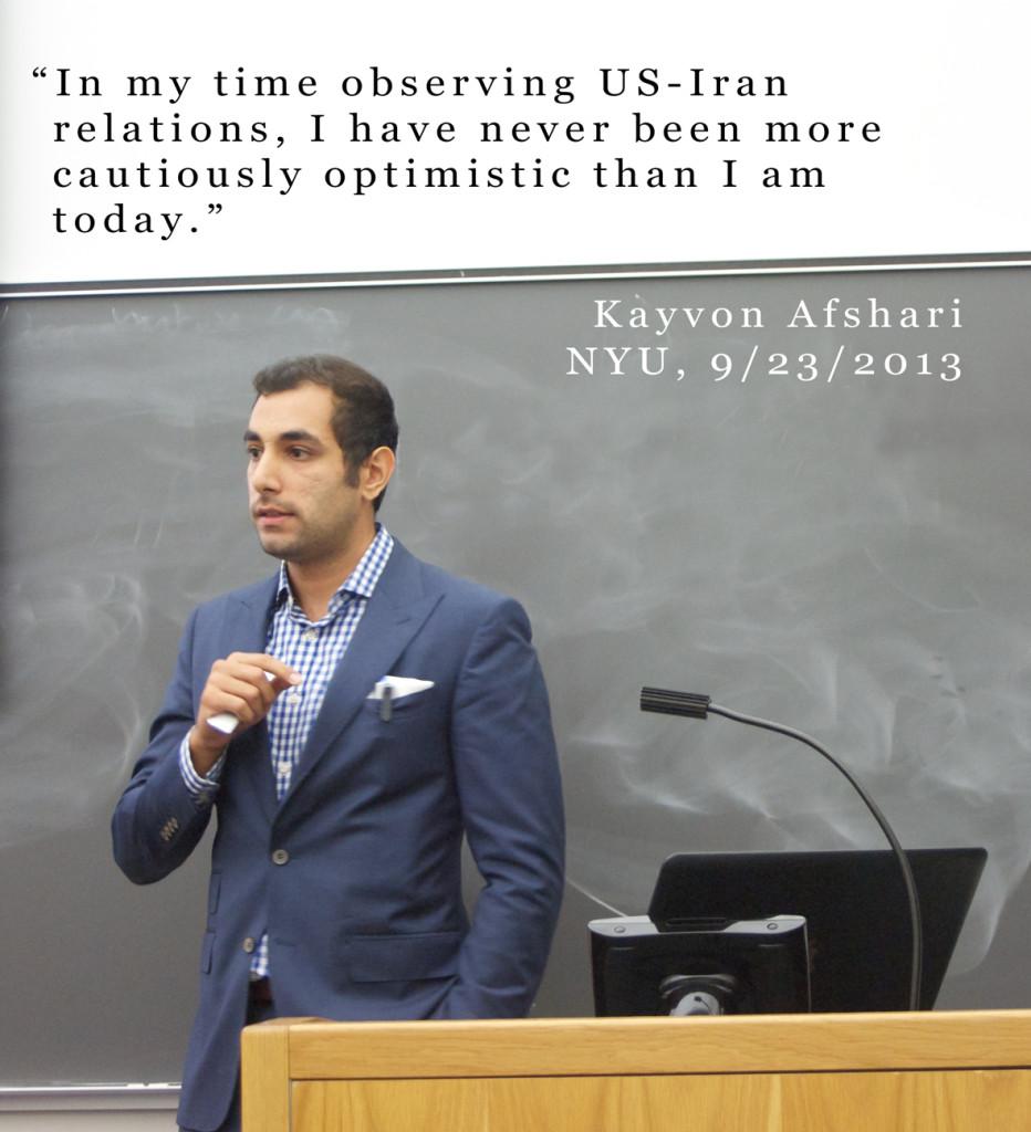 Kayvon Afshari NYU Lecture