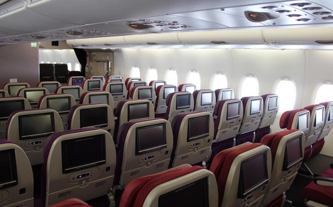 A380 Economy Cabin