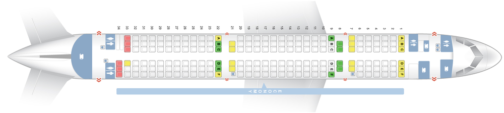 A321- with Economy Class only   196 Y - Personal AVOD & USB at all seats   AVOD is not installed on this aircraft version - only on the Envoy Class A321 (321X)