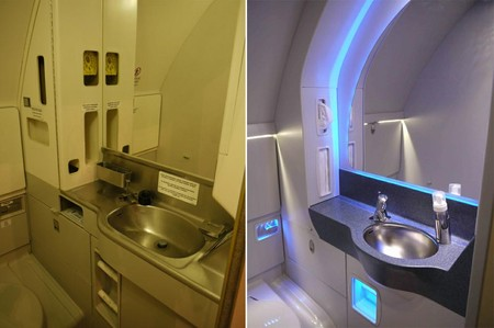 New Loo - Before & after, all washrooms are now refurbished in a contempoary style