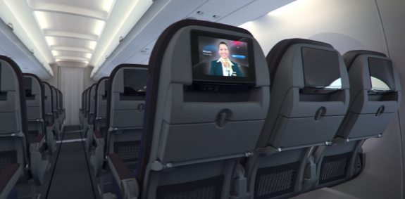 A great view from every seat -  New HD screens at all seats, USB power & more leg room than ever