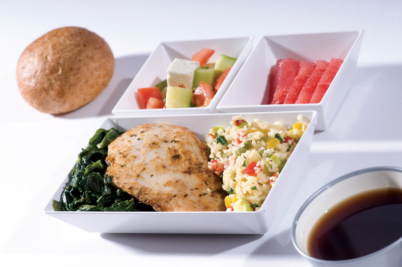 Complementary meals on flights over 6 hours